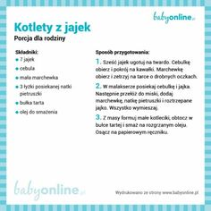 Kotlety z jajek Physical Activities, Baby Food Recipes, Food Hacks, Clean Eating, Food Porn, Food And Drink, Menu, Dinner, Drinks