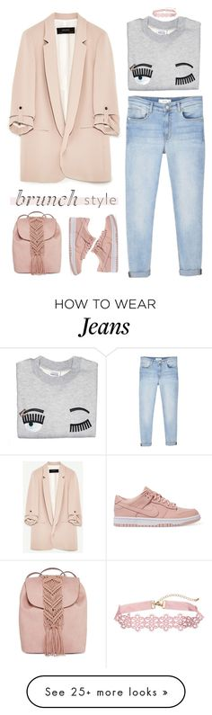 """cheap can be chic"" by timeak on Polyvore featuring MANGO, NIKE and T-shirt & Jeans"