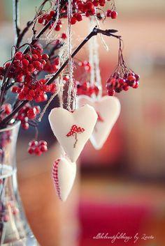 Christmas mushroom hearts finished