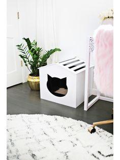 Аккуратный домик-туалет для кошки своими руками – Своими руками