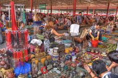 The vibrant flea market at the Panjiayuan Antique Market in Beijing. People come from all over the country to sell their wares here. We came away with a beautiful plate, a scroll painting, and other little treasures.    HDR from 3 exposures tone-mapped So You Want To Be A Picker? Online Course -CLICK ON THE PICTURE ABOVE ^