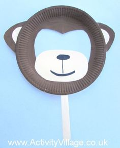 Paper Plate Monkey Mask                                                                                                                                                      More
