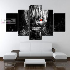 Tokyo Ghoul Kaneki Ken 1 to 5 Pieces Canvas Print    #tokyo #ghoul #canvas #canvas #painting #wall #decor #kaneki #ken #merchandise #print    https://www.animeprinthouse.com/collections/all/products/tokyo-ghoul-5-piece-canvas-print-kaneki-ken