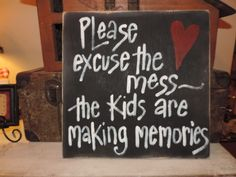 A new home brings new memories, so put this sign up and proudly display your #moving mess.