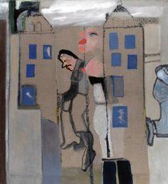 Teresa Pągowska Prawobrzeżna Warszawa, 2006, technika własna, 140x130cm Face And Body, Faces, Paintings, Baseball Cards, Historia, Poster, Paint, Painting Art, The Face