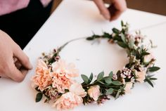 Diy fresh flower crown