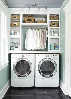 Best 20 Laundry Room Makeovers - Organization and Home Decor Laundry room decor Small laundry room organization Laundry closet ideas Laundry room storage Stackable washer dryer laundry room Small laundry room makeover A Budget Sink Load Clothes Small Laundry Rooms, Extra Storage Space, Laundry Room Organization, Laundry Room Design, Storage Spaces, Organization Ideas, Laundry Storage, Laundry Shelves, Laundry Nook