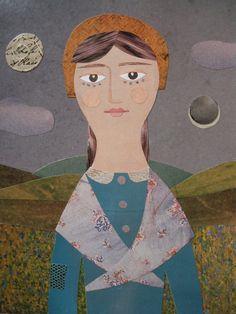 Kehrte zu ihrem Native Bergen, dort zu Leben    Inspiriert durch das Leben von Dorothy Wordsworth, dies ist eines meiner imaginären collagierten