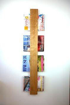Zeitschriftenhalter aus edlem Eichenvollholz, rustikale Wohndeko / rustic home decor: wooden dispenser for magazines made by klotzaufklotz via DaWanda.com