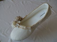 Wedding Flats  Vegan Shoes Rustic Wedding style by NewBrideCo, $98.00