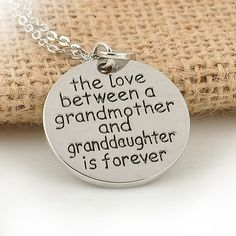 Only $12.99 + Free Shipping US Shipping! Perfect Gift! Grandmother and Granddaughter Love Necklace. Buy yours today at sale price from www.FamilyDeals.store