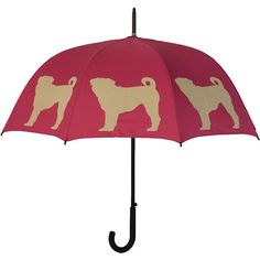 Pug-My sweet sister bought this for me... I love it!  Pug Walking Stick Umbrella | | CALENDARS.COM