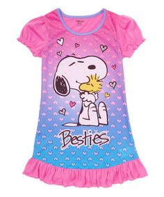 Pink Peanuts® Snoopy Nightgown - Girls
