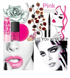 """Pink Beauty"" by marina-mare ❤ liked on Polyvore featuring beauty, Eve Snow, Maybelline, NARS Cosmetics and Stila"