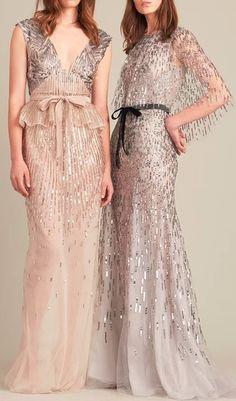 Monique Lhuillier embellished gowns