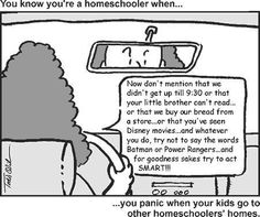 You know you are a homeschooler when...
