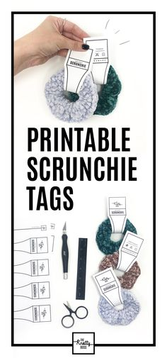 Another free printable scrunchie tag! Printable tags