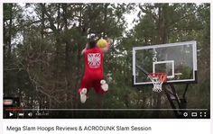 Video shows Team ACRODUNK having a slam session on a Mega Slam Hoops goal.