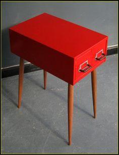 red drawers on legs • saks corner