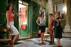 """Agostina Belli, Tosca D'Aquino, Fausto Paravidino e Donatella Finocchiaro in """"Amore che vieni, amore che vai"""" (2008)"""