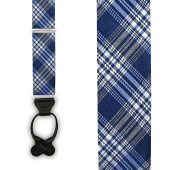Reflection Plaid - Serene Blue (Suspenders - Loop) from TheTieBar.com - Wear Your Good Tie Everyday