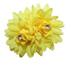 WD2U Girls Twin Rhinestone Flower Hair Bow on Alligator Clip Yellow 6016 >>> Be sure to check out this awesome product.
