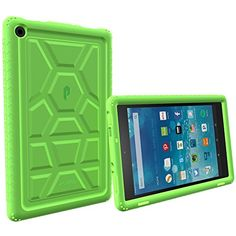 Fire HD 8 Old 2015 Model Only Case  Poetic Turtle Skin SeriesCorner ProtectionSoundAmplification Protective Silicone Case for Amazon Fire HD 8 2015 Old ModelNOT FIT 2016 NEW MODEL Green >>> Check this awesome product by going to the link at the image.