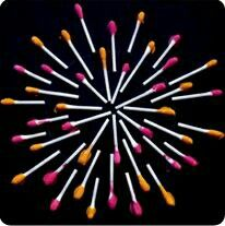 Fireworks Craft of July kids activity with q tips July 2014 craft KCC New Year's Crafts, July Crafts, Holiday Crafts, Crafts For Kids, Arts And Crafts, Kids Diy, Fireworks Craft For Kids, 4th Of July Fireworks, Fourth Of July