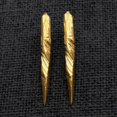 Macha Reverence Earrings - Gold Plate - Darkroom
