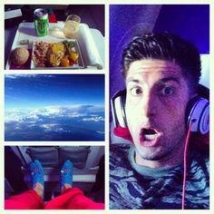 Jesse on a plane.