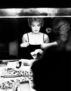 Marilyn Monroe photographed by Sam Shaw, 1955