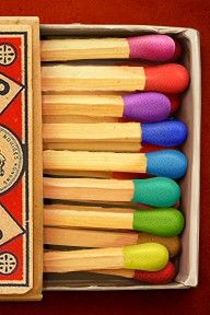 Rainbow Matchsticks #coloreveryday