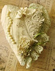 Old lace heart  - Love this.  justlilla.blogspot