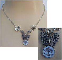Butterfly Celtic Tree of Life Pendant Necklace Jewelry Handmade NEW Adjustable #handmade http://www.ebay.com/itm/151559062575?ssPageName=STRK:MESELX:IT&_trksid=p3984.m1555.l2649