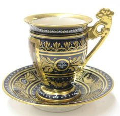 6512: Royal Vienna style cabinet cup saucer : Lot 6512