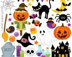 Halloween clip art - Clipart for Personal and commercial use