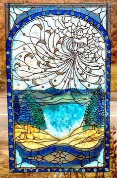WICOART WINDOW COLOR STICKER STATIC CLING STAINED GLASS VITRAIL VENT FROID