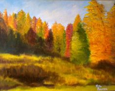 Autumn  landscape  original acrylic on canvas by ritabowersart, $125.00