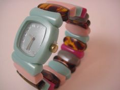 Baby blue colorful mix one of a kind Bracelet by TimeWillTellNola