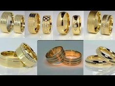 (12) Latest Gold Ring Designs Gold Jewellery Designs Rajputi Jewellery - YouTube Latest Gold Ring Designs, Mens Ring Designs, Gold Jewellery Design, Gold Jewelry, Jewelry Rings, Couple Rings Gold, Gold Rings, Rajputi Jewellery, Gold Chains For Men