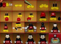 Fondant Decorations, Balloon Decorations Party, Cake Decorating Techniques, Cake Decorating Tutorials, Marzipan, Little Boy Cakes, Mini Mouse Cake, Crea Fimo, Minnie Cake