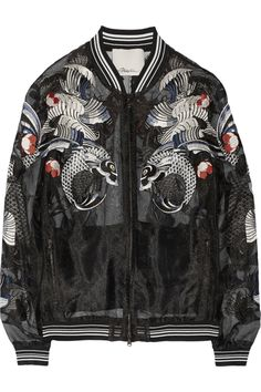 3.1 Phillip Lim | Tattoo-embroidered organza jacket | NET-A-PORTER.COM