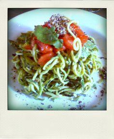 Raw zuchinni pasta, cruise phase