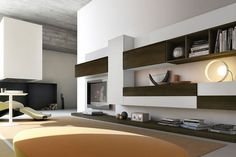 Moderne Wohnwand aus Holz PRO622626 Pescarollo Industria Mobili