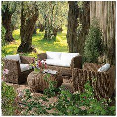 Home Collection Garden Set de living ratán natural maldini 4 piezas Fresco, Relax, Outdoor Furniture Sets, Outdoor Decor, Interior Exterior, Home Collections, Natural, Sweet Home, Live