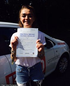 Ecstatic: The 17-year-old starlet is hoping her driving skills will land her more mature roles