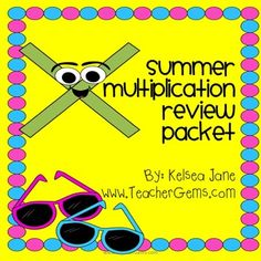 This packet is designed for teachers to give out to their students to complete over the summer. The parent letter is specific to 3rd graders going into 4th grade but the activity pages can be used for any grade.