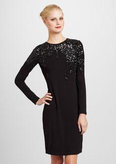 LOVE MOSCHINO  Sequined Long Sleeve Dress