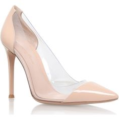 Gianvito Rossi Nude Patent Leather Calabria Courts (2.105 BRL) ❤ liked on Polyvore featuring shoes, pumps, heels, sapato, high heel pumps, nude pumps, clear high heel shoes, heel pump and high heeled footwear
