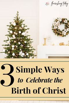 Do you want to keep Christ in Christmas this year but don't know how? Join us for 3 Simple ways to Celebrate the Birth of Christ this Christmas!